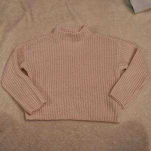 Baby Pink turtleneck Sweater Crop Top